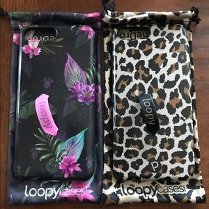 iPhone 7 Plus loopy cases with bag.